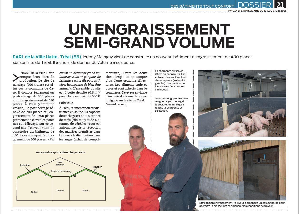Article du Journal Paysan Breton
